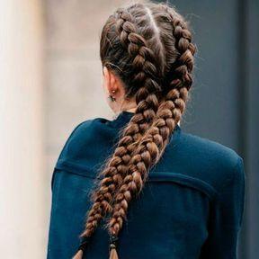 Deux tresses collées sur cheveux longs