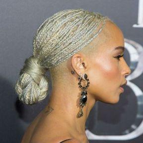Les tresses blondes de Zoë Kravitz