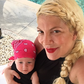 Tori Spelling et son fils Beau