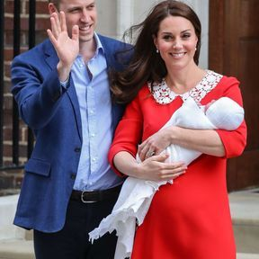Kate Middleton, William de Cambridge et leur fils Louis Arthur Charles