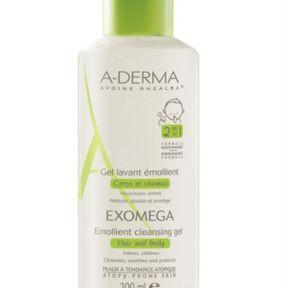 A -Derma  Exomega : Gel lavant émollient corps & cheveux