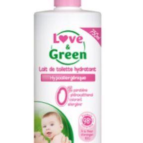 Love & green : lait de toilette hydratant