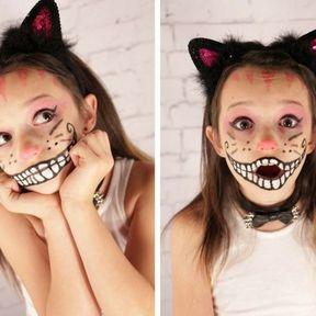Maquillage de chat d'Alice au pays des merveilles