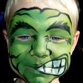 Maquillage Hulk
