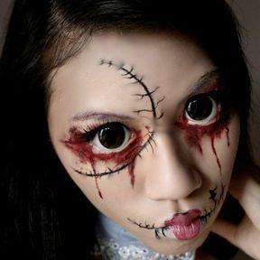 Maquillage de poupée effrayante