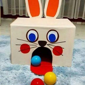 Bien viser grâce au lapin en carton