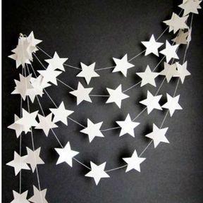 Transformer votre carton en guirlande d'étoiles