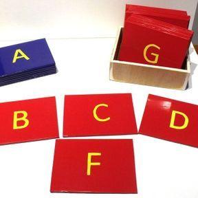 Kit lettres rugueuses (Montessori) scripts majuscules