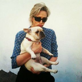 Jane Marie Lynch et son chien