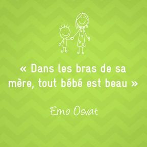 Citation sur la maternité de Erno Osvat