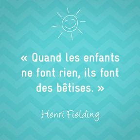 Citation sur la maternité de Henri Fielding