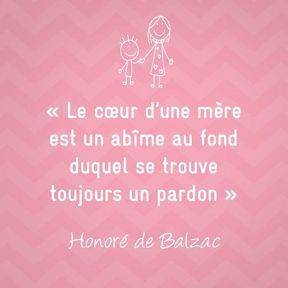 Citation sur la maternité de Honoré de Balzac