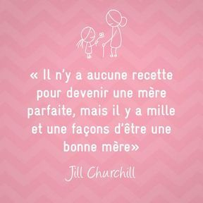 Citation sur la maternité de Jill Churchill