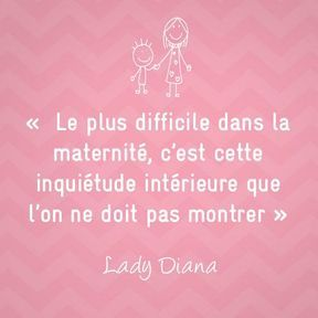 Citation sur la maternité de Lady Diana