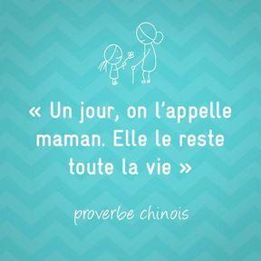 Proverbe chinois sur la maternité
