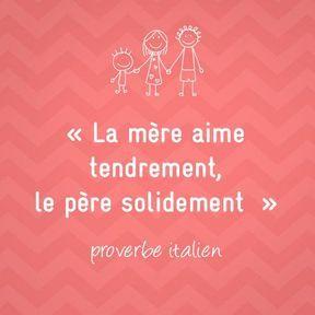 Proverbe italien sur la maternité
