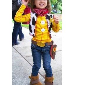 Déguisement de Woody dans Toy Story