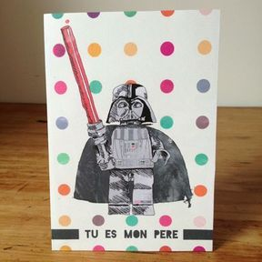 """Carte """"tu es mon père"""""""