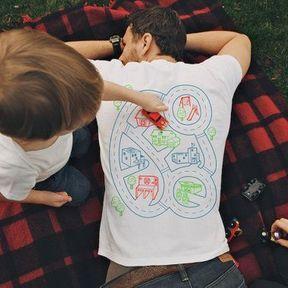 T-shirt parcours automobile de massage
