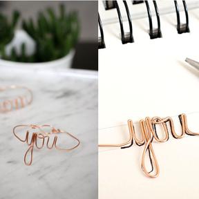 Bracelet fil d'aluminium mot doux