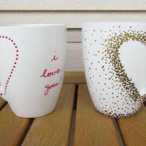 Mug paillettes / i love U