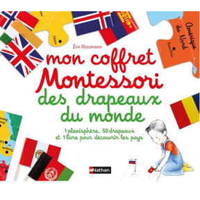 Mon coffret Montessori des drapeaux du monde, Nathan
