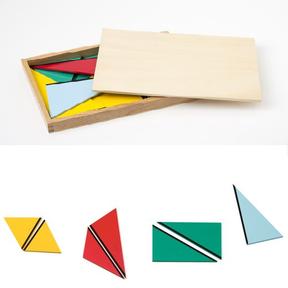 Triangles constructeurs, Ateliers Montessori