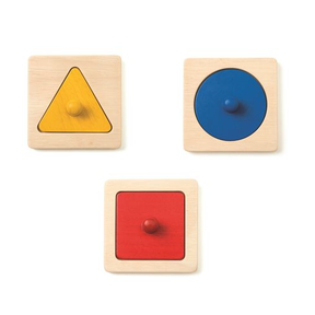 Trio de puzzles à encastrer, Ateliers Montessori