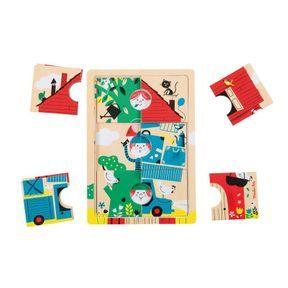 Puzzle en bois 3 étages, Moulin Roty
