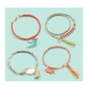 Bracelet Kumihimo Céleste