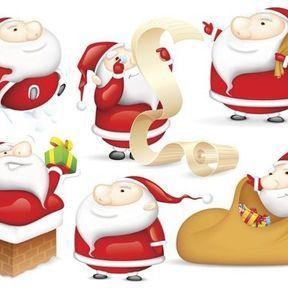 Une multitude de Pères Noël