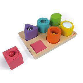 Puzzle 6 cubes sensoriels, Janod