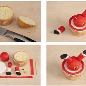 Cupcakes Père Noël