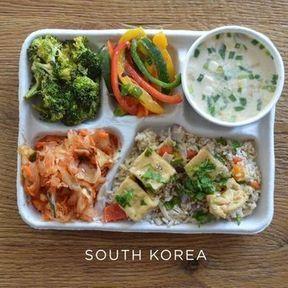 Le plateau-repas en Corée du Sud
