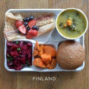 Le plateau-repas en Finlande