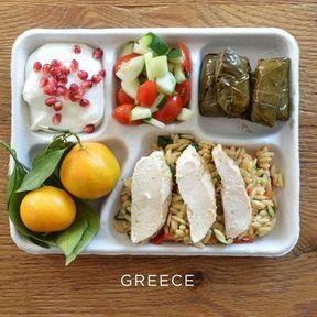 Le plateau-repas en Grèce
