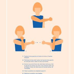 L'étirement de l'épaule, bras tendu