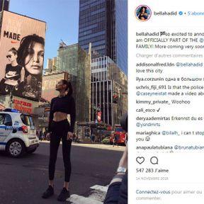 Bella Hadid pour Nike