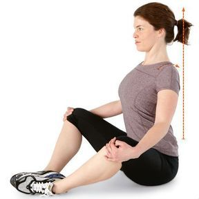 Exercice d'autograndissement en position assise