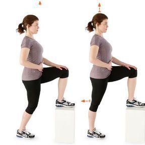 Extension active du genou sur banc