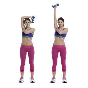 Extension triceps avec haltère