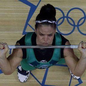 L'haltérophile méxicaine Luz Mercedes Acosta Valdez
