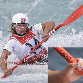 La kayakiste américaine Caroline Queen