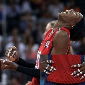 La joueuse de volley-ball américaine Destinee Hooker