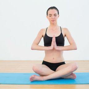 La posture du lotus ou Padmasana