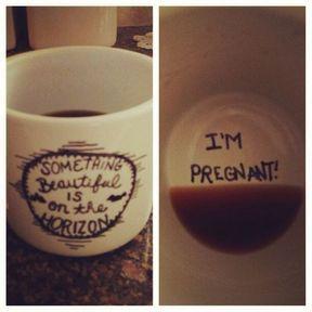 Annonce grossesse tasse de café
