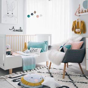 La chambre de bébé colorée