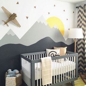 La chambre de bébé montagne