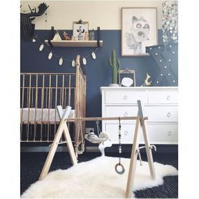 La chambre de bébé bleue