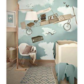 La chambre de bébé dessin mural